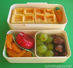 Tamarind and waffle bento lunch for preschooler