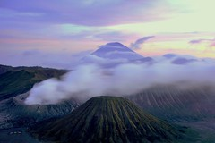 Bromo sunset (Farl) Tags: sunset mountain mountains cold fog clouds indonesia volcano java smoke caldera volcanoes gunung range jawa bromo semeru active tengger batok eastjava jawatimur probolinggo