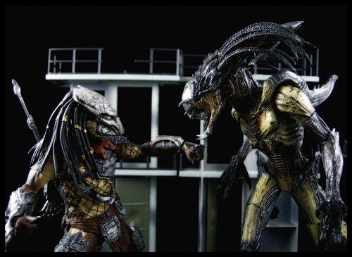 juguete predator y Predalien AVP2 requiem