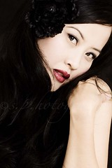 .. (sam_samantha) Tags: woman selfportrait face mouth asian eyes blackhair blackflower goshilovephotoshop clonetoolismybestfriend