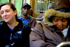 look sleep smile (Brian Hagy) Tags: portrait chicago public smile look train cta sleep el il transportation passenger gettingthere ctaproject