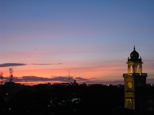 Sunset over Mysore