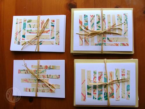 2 sets of cards, 2 sets of postcards