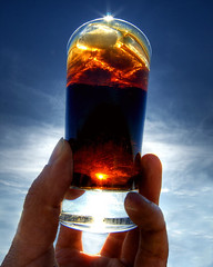 Cheers! (Harpagornis ~away~) Tags: summer sun hot ice cool cola drink coke ontherocks cheers cubes macromondays