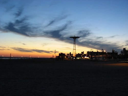 The derelict Parachute Drop ride at Coney Island.