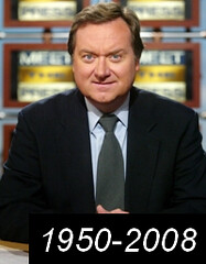 Breaking news: NBC's Tim Russert is dead.