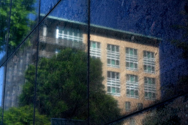 reflected, downtown