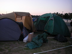 Tent city (Thais Delcanton) Tags: camping france cars holidays bongo godzilla 2008 lemans darrensimpson jamieboyd thaisdelcanton shaneallen samsammons