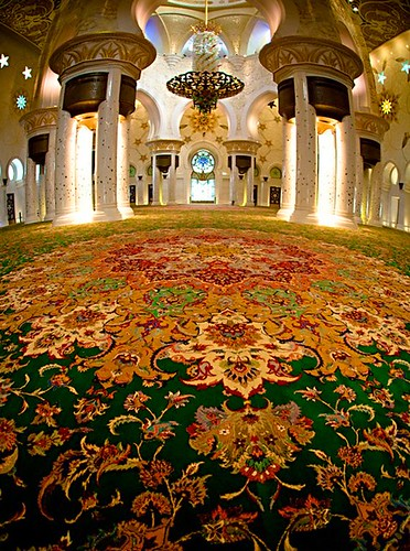Nahayan Mosque has World's Largest Handmade Persian Carpet
