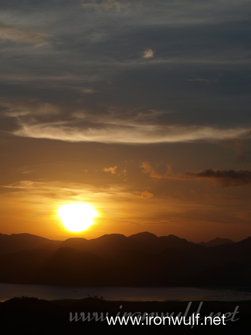 Coron Sunset over calamianes Islands