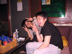 Kozue and Hiro at Karaoke (jrkester) Tags: japan hirosaki 2008
