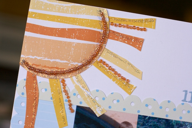 Sun with Beads/Stickles
