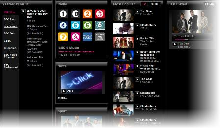 iPlayer menu