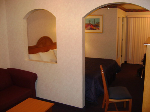 The difference between the Comfort Inn and the Grand Canyon Motel