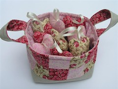 Fabric basket with lavender filled hearts (skubach) Tags: basket heart lavender fabric