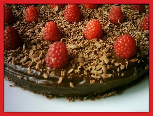 Torta ciocco-lampone