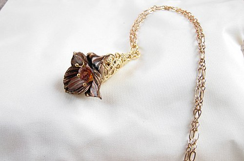 Queen Of The Night Orchid pendant