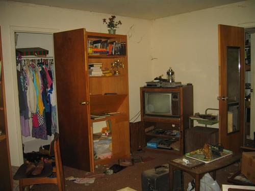 Raided family room