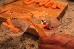 carrot and cranberry martinis