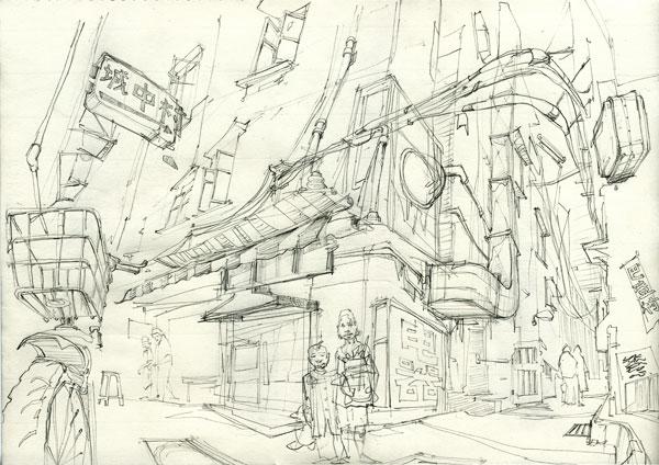 Ba Deng Cun sketch