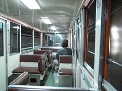 トロッコ電車の特別車両の車内