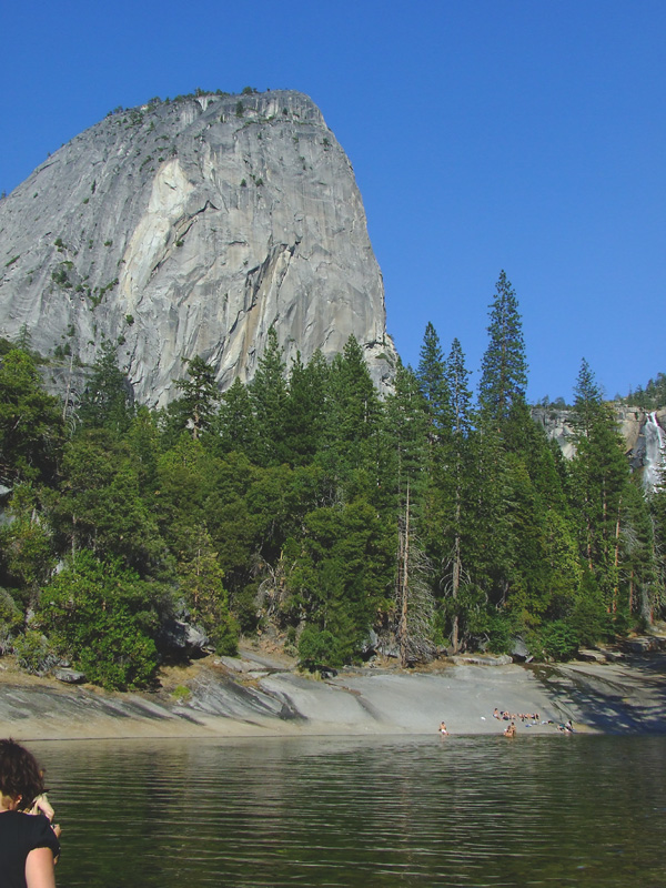 View of Liberty Cap and the Emerald Pool above the Vernal Falls, Yosemite