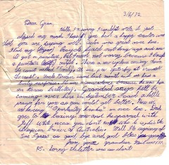 Letter to Gran, April 1972