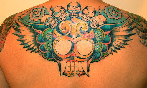 skull tattoos, wings tattoos, back tattoos, tattoo mens
