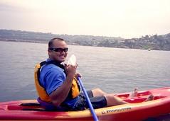 Reg (ewen and donabel) Tags: california smile boat kayak unitedstates paddle lajolla shaka reg
