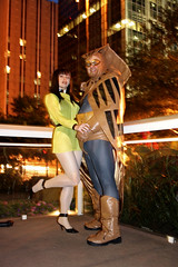 Watchmen PM Photoshoot - Silk Spectre & Nite Owl (sciencensorcery) Tags: comics cosplay conventions watchmen con dragoncon niteowl dragoncon2008 rubyrocket silkspectre dragoncon08