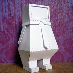 Fat Folds angle (GUANOdesign) Tags: man shirt modern computer paper toy design tv fat tie business worker folds consume guano consumer overweight comuter buiseness