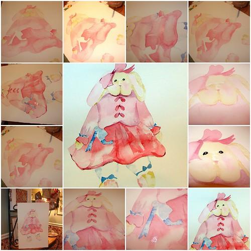 Pink Storybook Bunny