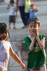 20080907_091 (*chiwai*) Tags: hk motion cute water fountain rain kids children happy hongkong drops action joy innocent lovely lantau citygate tungchung