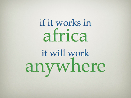 if it works in Africa...