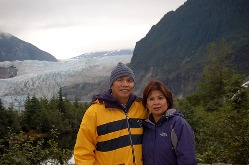Ma and Pa in Front of Mendenhall
