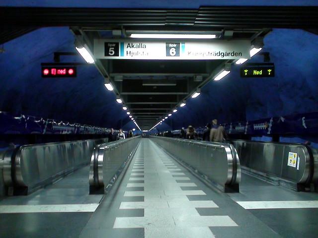 T-Centralen station, walkway