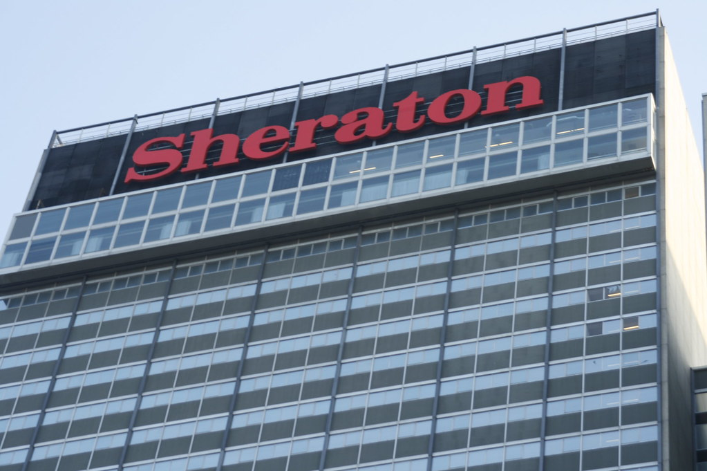 Sheraton Replaces Adams Mark sign