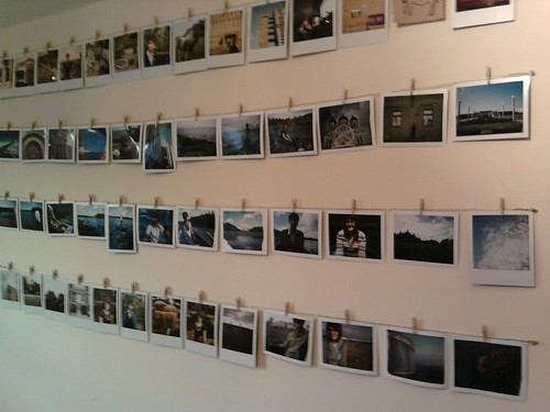Wire + Minipegs = Polaroid Wall by fionamclaren.
