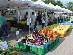 suburban farmers' market, Schaumberg (by: Mary Jo Follert, for GoTo2040, CMAP)