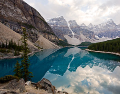 Moraine Lake (revisited) (mahonyweb) Tags: lake canada beautiful landscape interestingness interesting searchthebest explore alberta lakelouise lightroom banffnationalpark morainelake valleyofthetenpeaks canon1740l glaciallake top500 flickrexplore rockflour magicdonkey canonllens canoneos1dsmarkiii canon1dsmarkiii vosplusbellesphotos