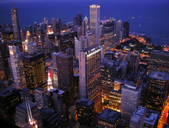 Chicago from the Sears Tower (Guillaume Boisseau) Tags: usa chicago building public architecture geotagged illinois nikon searstower skycraper 5photosaday guillaumeboisseau willistower coolpixs510 103rdfloorofthesearstower geo:lon=87636019 geo:lat=41878884