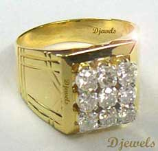 Real Diamond Gents Engagement Ring