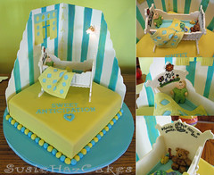Baby Shower Nursery Cake - November 2007 (SusieHazCakes) Tags: light window cake quilt nursery crib walls babyshower cradle pastillage susiehazcakes wmac08
