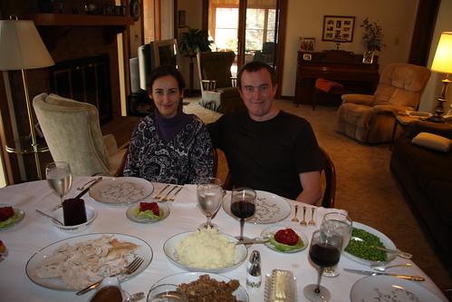 Erik and Marga on Thanksgiving Day