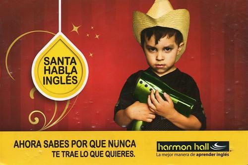 Santa habla inglés