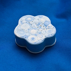 "Jewelry Box ""Winter patterns"" (Moonlight Witch) Tags: snowflake winter pattern box handmade jewelry clay present cookiecutter  kato cernit filigree polymer extruder  polyclay   liquidclay"
