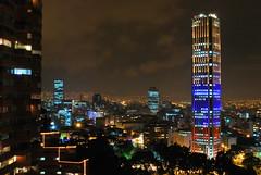 Torre Colpatria & South of Bogota (CAUT) Tags: building southamerica night skyscraper noche nikon colombia bogota nightscape bogotá edificio nocturna nightview kolumbien rascacielos suramerica d60 suramérica colpatria torresdelparque nikond60 torrecolpatria rascalcielos