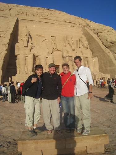 From left - Darcy, me, Amy, and Joe at Abu Simbel, Egypt