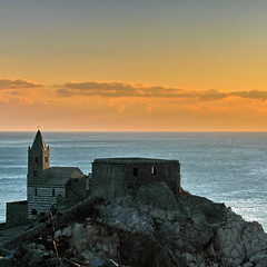 Portovenere - St Peter church (klausthebest) Tags: sunset sea sky italy cloud church water skyline clouds landscape atardecer dawn bravo rocks italia nuvole liguria hill religion christianity nuages portovenere italians stpeterchurch chiesadisanpietro abigfave worldbest anawesomeshot holidaysvacanzeurlaub theunforgettablepictures betterthangood theperfectphotographer goldstaraward qualitypixels obq exphoto dragondaggerphoto novavitanewlife sensationalphoto thedantecircle themonalisasmile