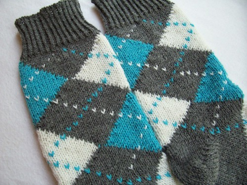 Seamless Argyle Socks, Close-Up
